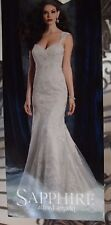 918 ALFRED ANGELO SAPPHIRE 986 SZ 10 IVORY PEARL $1675 NEW WEDDING GOWN DRESS