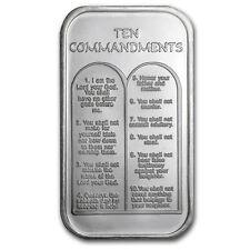 1 oz Silver Bar - Ten Commandments (Hebrew) - SKU #64384