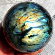 200g Natural Crystal Healing Ball Labradorite Moonstone Sphere Decoration