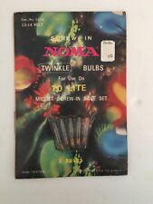 Vintage Noma Screw-In Midget Bulbs New Old Stock Twinkle 12-14 Volt Cat#1016