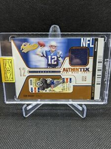 2004 TOM BRADY Fleer Authentix Mezzanine Game-Used Jersey Patch SP 73/75 R2