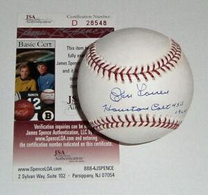 YANKEES Don Larsen signed baseball w/ Houston Colt 45s 1964 JSA COA AUTO rare