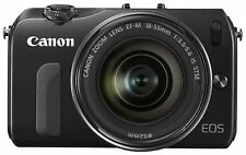 Canon Mirrorless Camera EOS M Lens Kit EF-M18-55mm F3.5-5.6 Black USED F/S JAPAN