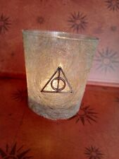 Harry Potter Handmade Glass Candle Holder - Deathly Hallows