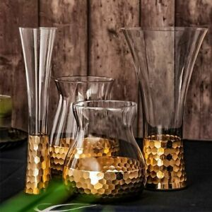 Nordic Honeycomb Glass Vase Iridescent Flower Pot Home Decoration Planter Gift