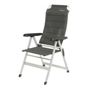 Outwell Melville Lehnstuhl Campingstuhl Campingliege Aluminium-Stuhl schwarz