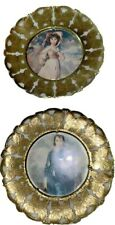 New ListingTwo Frames England Boy Blue & Pinkie Butterfly Round Victorian Style Frames