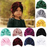 beanie chapeau petits enfants indian turban doux bébé noués chapeau le velours