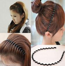 Fashion Black Mens Women Unisex Wavy Hair Head Hoop Band Sport Headband Gift