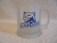 Vintage Penn State Frosted Paneled Mug Made in U.S.A.