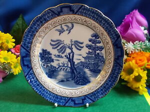 LOVELY REAL OLD WILLOW BREAD PLATE - BOOTHS ENGLAND GC # M 212