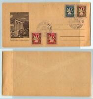 Lithuania 🇱🇹 1947 DP cover used Displaced persons camp Meerbeck. f9518