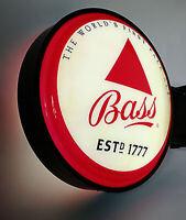 Vintage Bass Ale LIGHT UP Neon / LED Beer Sign HUGE 24-inch Sign NEW