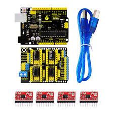 Arduino CNC kit / CNC Shield V3.0 + uno R3+4pcs a4988 driver / GRBL compatible