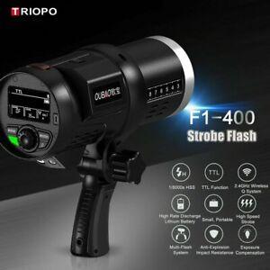 Triopo F1-400 400W Wireless Dual TTL Outdoor Strobe Flash Light Bowens Mount