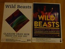 Wild Beasts - Scottish tour Glasgow concert gig posters x 2