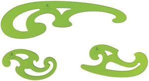 N/ähwerkzeug-Set N/ählineal Messwerkzeug geeignet f/ür Designer Schneidermuster Ztoma N/ählineal franz/ösisches Kurvenlineal metrisches Lineal-Set Schneider DIY Guide Kit 4 PCS