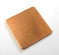 Dissipateur thermique pad Cuivre 15x15x0,6 mm / Pad Copper Heat Sink