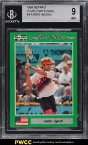 1991 Netpro Tour Stars Tennis Andre Agassi #3 BGS 9 MINT