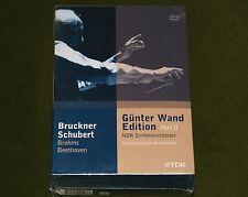 GUNTER WAND EDITION PART 2 BRUCKNER SCHUBERT BRAHMS BEETHOVEN 4x DVD BOX TDK New