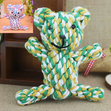 Pet Dog Puppy Cat Chew Tough Toy Cute Rope Braided Knot Play Toy Training LOT AA