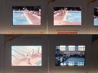 Lot of 34 Swim Meets Slides 1960s 35mm Vtg Swimming Pool Race Indoor Outdoor