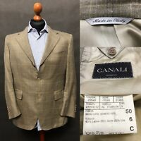Canali Mens 3 Buttons Wool Silk Linen Blazer Jacket Size EU50/US40 Made in Italy
