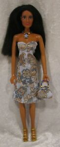 Made to fit CHER #74 Dress, Purse & Necklace Set,  Handmade doll clothes