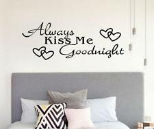 Home Decor Wall Sticker Always Kiss Me Goodnight Decal Bedroom Vinyl Art Mural
