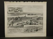 New Hampshire Map, Plant of Somersworth Machine Co Dover 1892 pictorial pg L5#20