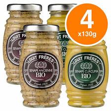 Louit Fréres Salsa Senape Bio Curcuma Ancienne Biologica - 4 Vasetti da 130gr