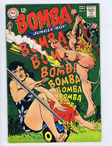 Bomba the Jungle Boy #4 DC 1968 the Deadly Sting of Ana Conda!