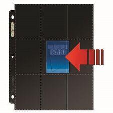 9 Pocket Pages Ultra Pro PREMIUM SERIES SIDE LOAD BLACK Nero Fogli Raccoglitore