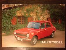 Catalogo Automóvil Talbot 1200 LS