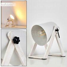 moderne Nacht Tisch Lampe Holz weiß Schlaf Wohn Zimmer Beleuchtung verstellbar