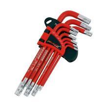 Neilsen 9 piece Star Key Set - long - offset - Tamperproof - rubber handles 4254