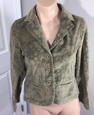 Talbots Floral Print Blazer Jacket Sage Green Petite Womens Size 4