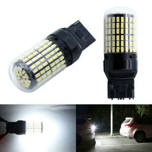 2X 7440 T20 LED Bulb CANBUS 144SMD W21W Car Turn signal Light Reverse White Lamp