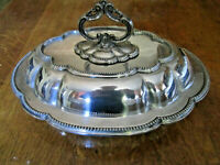 Old High Quality Antique Victorian No.1079 Silver Plate Table Serving Tureen