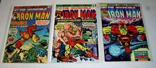IRON MAN #78 #79 AND #80  RUN OF THREE BRONZE MARVELS   Free Shipping