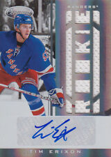 11-12 Certified ROOKIE JERSEY AUTO xx/299 Made! Tim ERIXON #245 - Rangers