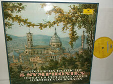 2740 128 Mendelssohn 5 Symphonies Berliner Philharmoniker Von Karajan 4LP Box Se