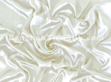"IVORY SATIN FABRIC 60""W TABLE CLOTH BRIDESMAID DRESS CHAIR TIES SASHES BTY"