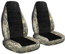 CHEVY S10 60-40 seat front car seat covers camo side/blk center CHOOSE,MORE AVBL