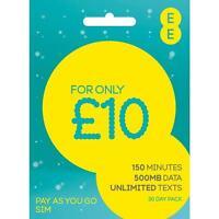 EE Pay As You Go 4G SIM PAYG Nano/Micro/Standard Triple Trio Cut New UK