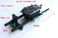 DSLR Quick Release 15mm rod rail support for follow focus 120mm plate & Mattebox