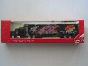 Vintage Rear HO 1/87 Promotex # 6201 Mack CH 613 w/45' Dry Van - Mega Pizza