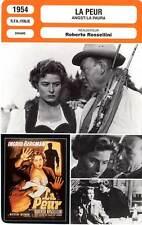 FICHE CINEMA : LA PEUR - Bergman,Wieman,Rossellini 1954 Angst / La Paura