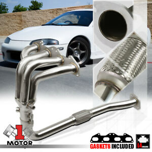 SS Exhaust Header Manifold for 95-99 Mit Eclipse/Talon 2G 420A 2.0 Non-Turbo NA