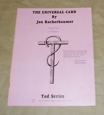 RACHERBAUMER, The Universal Card (1975, Tannens, softcover)-- TMGS Book Blowout
